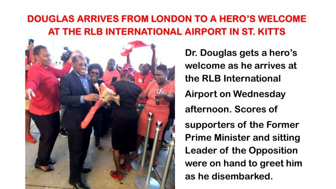 Douglas greeted at airport after winning Diplomatic passport case