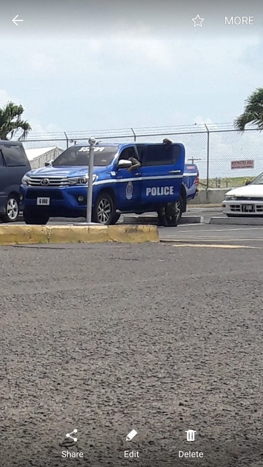 Police vehicle at the airport