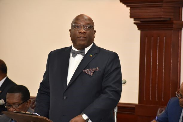 Prime-Minister-and-Minister-of-Finance-Dr.-the-Hon.-Timothy-Harris-making-statement-before-the-Thursday-November-28-sitting-of-the-National-Assembly.-